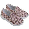 WOVEN1 WHITE MARBLE & RUSTED METAL (R) Kid s Lightweight Slip Ons View3