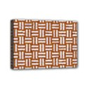 WOVEN1 WHITE MARBLE & RUSTED METAL Mini Canvas 7  x 5  View1