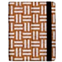 WOVEN1 WHITE MARBLE & RUSTED METAL Apple iPad 3/4 Flip Case View2