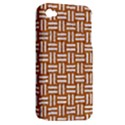 WOVEN1 WHITE MARBLE & RUSTED METAL Apple iPhone 4/4S Hardshell Case (PC+Silicone) View2