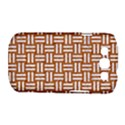 WOVEN1 WHITE MARBLE & RUSTED METAL Samsung Galaxy S III Classic Hardshell Case (PC+Silicone) View1