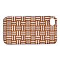 WOVEN1 WHITE MARBLE & RUSTED METAL Apple iPhone 4/4S Hardshell Case with Stand View1