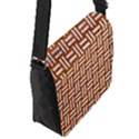 WOVEN1 WHITE MARBLE & RUSTED METAL Flap Messenger Bag (S) View2