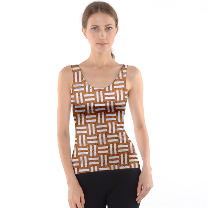 WOVEN1 WHITE MARBLE & RUSTED METAL Tank Top