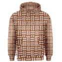 WOVEN1 WHITE MARBLE & RUSTED METAL Men s Pullover Hoodie View1