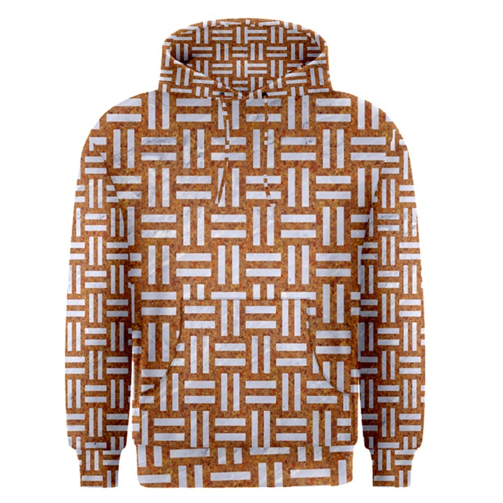 WOVEN1 WHITE MARBLE & RUSTED METAL Men s Pullover Hoodie