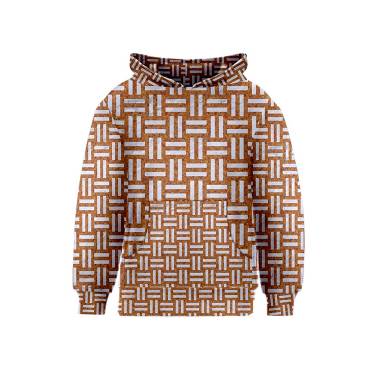 WOVEN1 WHITE MARBLE & RUSTED METAL Kids  Pullover Hoodie