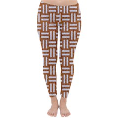Woven1 White Marble & Rusted Metal Classic Winter Leggings