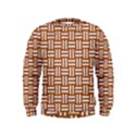 WOVEN1 WHITE MARBLE & RUSTED METAL Kids  Sweatshirt View1