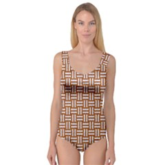 Woven1 White Marble & Rusted Metal Princess Tank Leotard