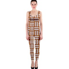 Woven1 White Marble & Rusted Metal One Piece Catsuit