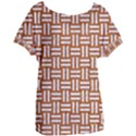 WOVEN1 WHITE MARBLE & RUSTED METAL Women s Oversized Tee View1