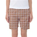 WOVEN1 WHITE MARBLE & RUSTED METAL Women s Basketball Shorts View1