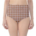 WOVEN1 WHITE MARBLE & RUSTED METAL High-Waist Bikini Bottoms View1