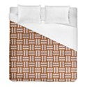 WOVEN1 WHITE MARBLE & RUSTED METAL Duvet Cover (Full/ Double Size) View1
