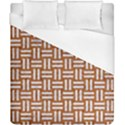 WOVEN1 WHITE MARBLE & RUSTED METAL Duvet Cover (California King Size) View1