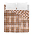 WOVEN1 WHITE MARBLE & RUSTED METAL Duvet Cover Double Side (Full/ Double Size) View1