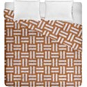WOVEN1 WHITE MARBLE & RUSTED METAL Duvet Cover Double Side (King Size) View1