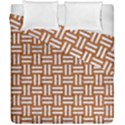 WOVEN1 WHITE MARBLE & RUSTED METAL Duvet Cover Double Side (California King Size) View1