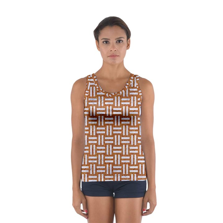 WOVEN1 WHITE MARBLE & RUSTED METAL Sport Tank Top