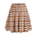 WOVEN1 WHITE MARBLE & RUSTED METAL High Waist Skirt View1