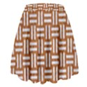 WOVEN1 WHITE MARBLE & RUSTED METAL High Waist Skirt View2