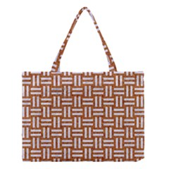 Woven1 White Marble & Rusted Metal Medium Tote Bag