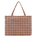 WOVEN1 WHITE MARBLE & RUSTED METAL Medium Tote Bag View1