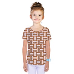 Woven1 White Marble & Rusted Metal Kids  One Piece Tee