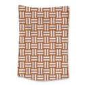 WOVEN1 WHITE MARBLE & RUSTED METAL Small Tapestry View1