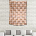 WOVEN1 WHITE MARBLE & RUSTED METAL Small Tapestry View2