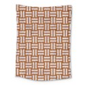 WOVEN1 WHITE MARBLE & RUSTED METAL Medium Tapestry View1