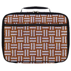 Woven1 White Marble & Rusted Metal Full Print Lunch Bag