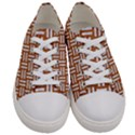 WOVEN1 WHITE MARBLE & RUSTED METAL Women s Low Top Canvas Sneakers View1