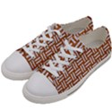 WOVEN1 WHITE MARBLE & RUSTED METAL Women s Low Top Canvas Sneakers View2