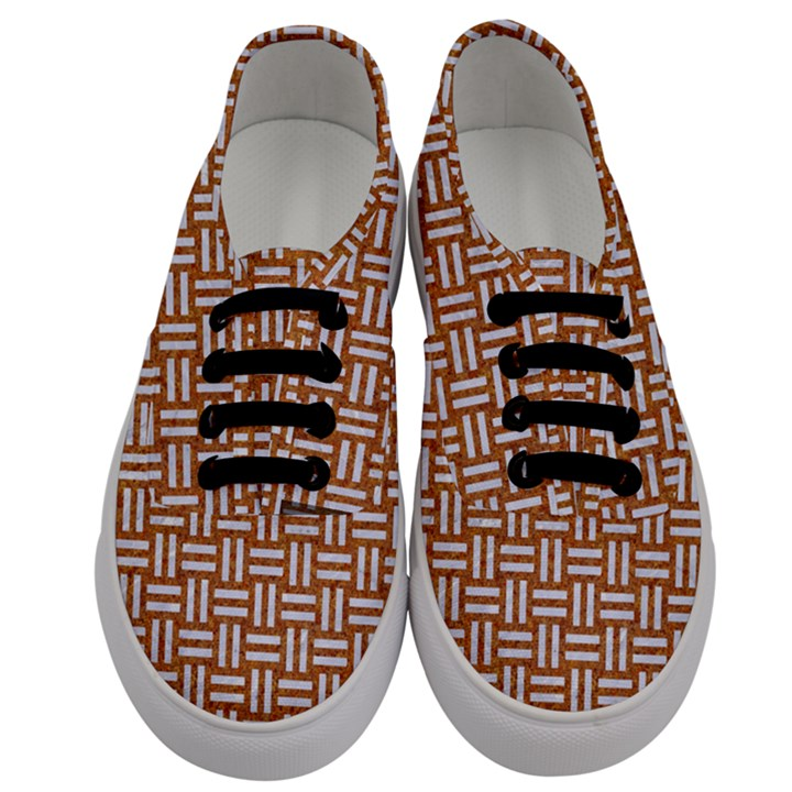 WOVEN1 WHITE MARBLE & RUSTED METAL Men s Classic Low Top Sneakers