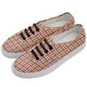WOVEN1 WHITE MARBLE & RUSTED METAL Women s Classic Low Top Sneakers View2