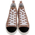 WOVEN1 WHITE MARBLE & RUSTED METAL Men s Mid-Top Canvas Sneakers View1