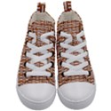 WOVEN1 WHITE MARBLE & RUSTED METAL Kid s Mid-Top Canvas Sneakers View1