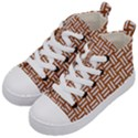 WOVEN1 WHITE MARBLE & RUSTED METAL Kid s Mid-Top Canvas Sneakers View2