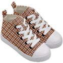 WOVEN1 WHITE MARBLE & RUSTED METAL Kid s Mid-Top Canvas Sneakers View3