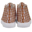 WOVEN1 WHITE MARBLE & RUSTED METAL Kid s Mid-Top Canvas Sneakers View4