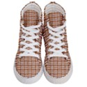 WOVEN1 WHITE MARBLE & RUSTED METAL Women s Hi-Top Skate Sneakers View1