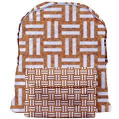 Woven1 White Marble & Rusted Metal Giant Full Print Backpack