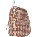 WOVEN1 WHITE MARBLE & RUSTED METAL Foldable Lightweight Backpack View3
