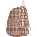 WOVEN1 WHITE MARBLE & RUSTED METAL Foldable Lightweight Backpack View4