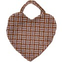 WOVEN1 WHITE MARBLE & RUSTED METAL Giant Heart Shaped Tote View1