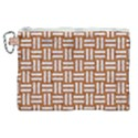 WOVEN1 WHITE MARBLE & RUSTED METAL Canvas Cosmetic Bag (XL) View1