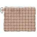 WOVEN1 WHITE MARBLE & RUSTED METAL Canvas Cosmetic Bag (XXL) View1