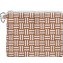WOVEN1 WHITE MARBLE & RUSTED METAL Canvas Cosmetic Bag (XXXL) View1